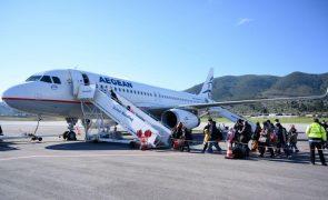 Cerca de 116 refugiados da ilha de Lesbos partiram para a Alemanha
