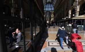 Covid-19: Itália regista aumento de novos casos e admite mais restrições