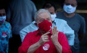Sondagem dá vitória a Lula da Silva na primeira volta das presidenciais