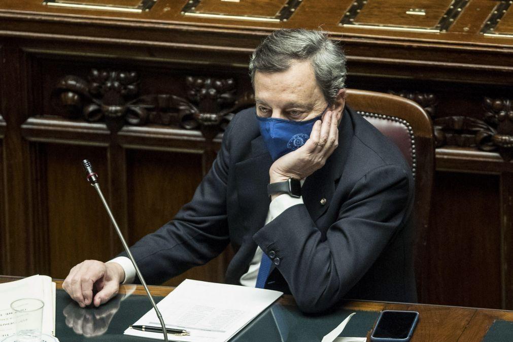 Governo Draghi com apoio amplo no parlamento italiano