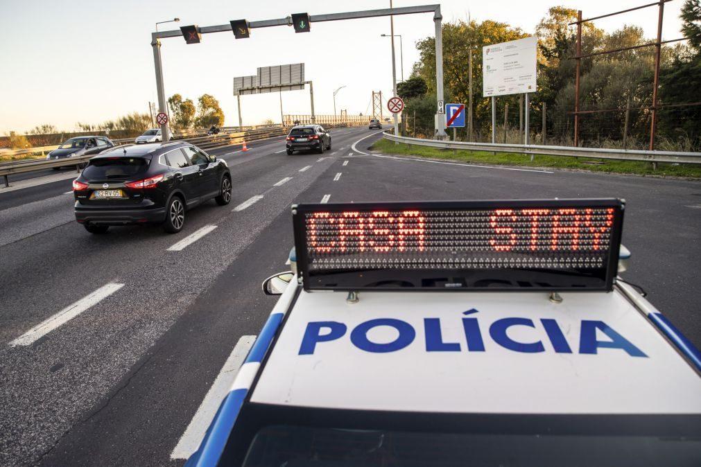 Covid-19: Proibido circular entre concelhos entre 20:00 de hoje e 05:00 de segunda-feira