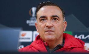 Carvalhal diz que Braga saiu reforçado animicamente da derrota com a Roma