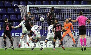 Real Madrid vence em Valladolid e aproxima-se da liderança