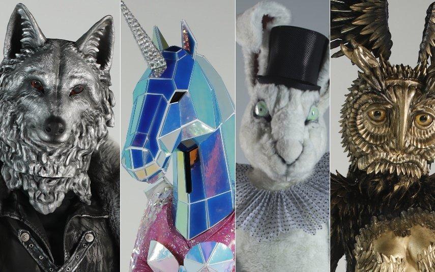 Quem são os famosos disfarçados de Lobo, Unicórnio, Coelho e Coruja