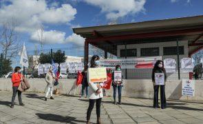 Enfermeiros em protesto no Barreiro ameaçam endurecer formas de luta