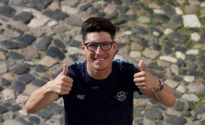 Ciclista João Almeida em segundo lugar na Volta aos Emirados Árabes Unidos