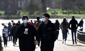 Covid-19: Reino Unido regista 548 mortes em tendência decrescente