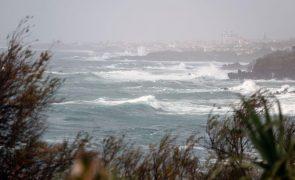 Flores e Corvo com aviso amarelo devido ao vento e agitação marítima