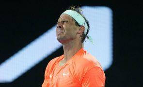 Rafael Nadal falha ATP 500 de Roterdão devido a problemas nas costas