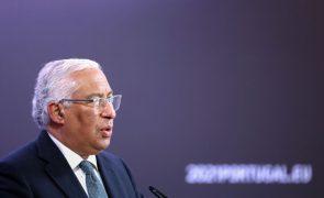 UE/Presidência: Costa convicto de que regras do Tratado Orçamental continuarão suspensas em 2022