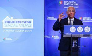Covid-19: Costa afirma que não há inquéritos epidemiológicos em atraso