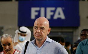Covid:19: Infantino elogia lúcida gestão financeira da FIFA que permitiu apoios