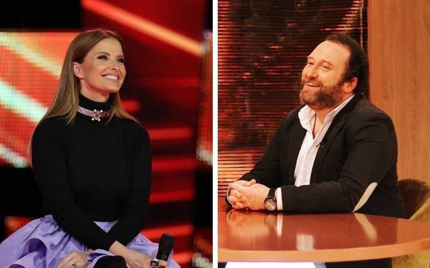 Cristina Ferreira Eduardo Madeira ao lado da apresentadora em novo programa da TVI