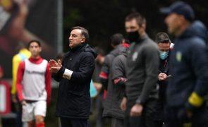 Carlos Carvalhal garante Braga confiante e motivado para vencer Nacional