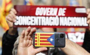 Cerca de 3.000 pessoas manifestam-se em Barcelona para exigir Governo independentista