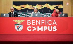 Jorge Jesus admite Benfica «num momento difícil»