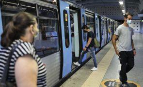 Covid-19: Metro de Lisboa com perdas de 51% na procura