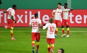 Leipzig bate Wolfsburgo e 'carimba' passagem às meias-finais da Taça da Alemanha