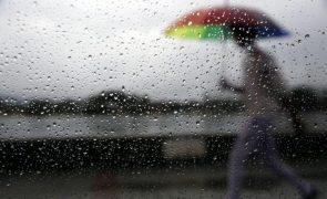 Seis distritos do continente sob aviso amarelo devido à chuva