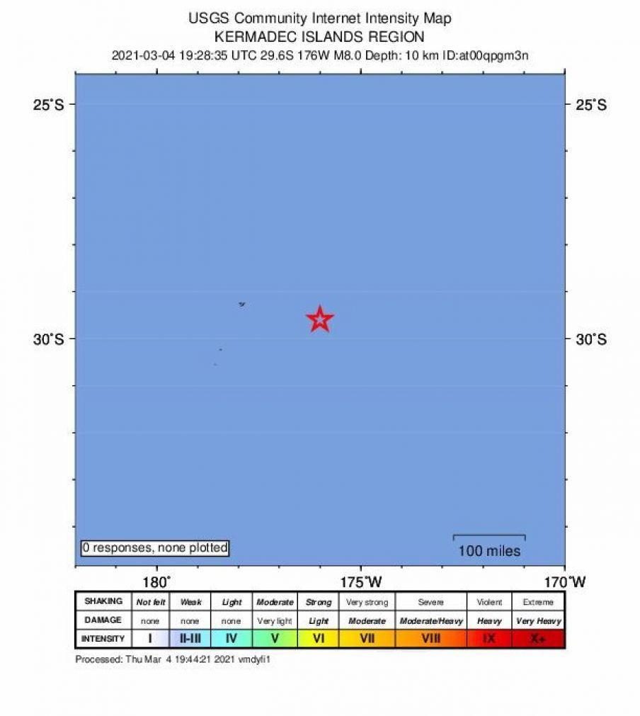 Sismo de magnitude 8,1 na Nova Zelândia faz soar aviso de tsunami