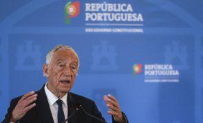 Marcelo cumprimenta Jerónimo de Sousa pelo centésimo aniversário do partido