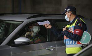 Circulação entre concelhos em Portugal continental proibida a partir das 20:00