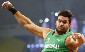 Francisco Belo na final do lançamento do peso nos Europeus de atletismo