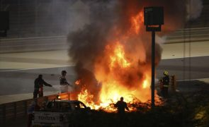 FIA concluiu que incêndio no acidente de Grosjean se deveu à violência do impacto