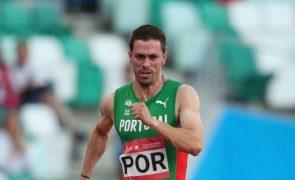 Carlos Nascimento na final dos 60 metros dos Europeus de atletismo