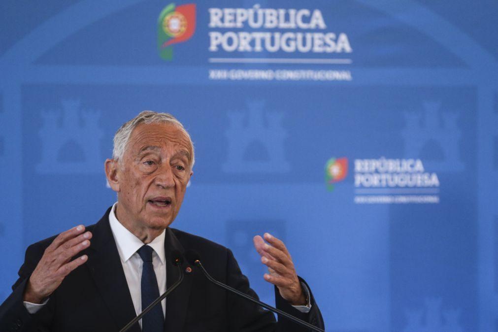Marcelo Rebelo de Sousa toma posse na terça-feira para um segundo mandato