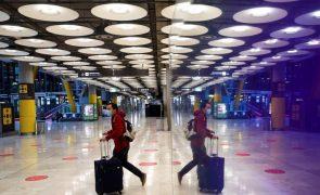 Covid-19: Espanha prolonga restrições a passageiros do Reino Unido, Brasil e África do Sul
