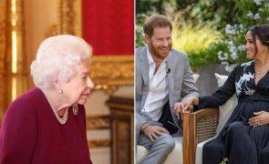 Rainha Isabel II já reagiu às acusações de racismo de Harry e Meghan