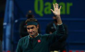 Roger Federer derrotado nos quartos de final em Doha