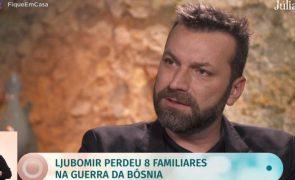 """Ljubomir Stanisic recorda infância em Sarajevo: """"Fica o cheiro dos mortos"""""""