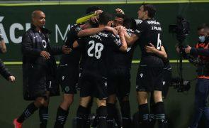 Sporting mantém invencibilidade na Liga ao vencer na visita a Tondela