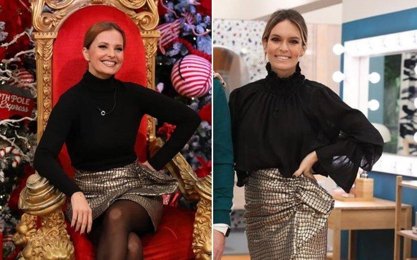 Cristina Ferreira e Diana Chaves Que coincidência! Apresentadoras usam a mesma saia e nós dizemos-lhe a marca