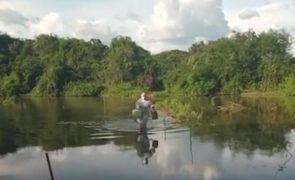 Enfermeira atravessa rio a pé para vacinar idosa contra a covid-19 [vídeo]