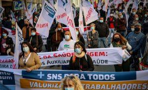 Mais de 100 sindicalistas da Frente Comum exigem ao Governo aumentos salariais