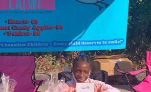 Menina de 8 anos cria fundação para ajudar crianças sem-abrigo