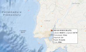 Sismo de magnitude de 3.4 sentido em Lisboa