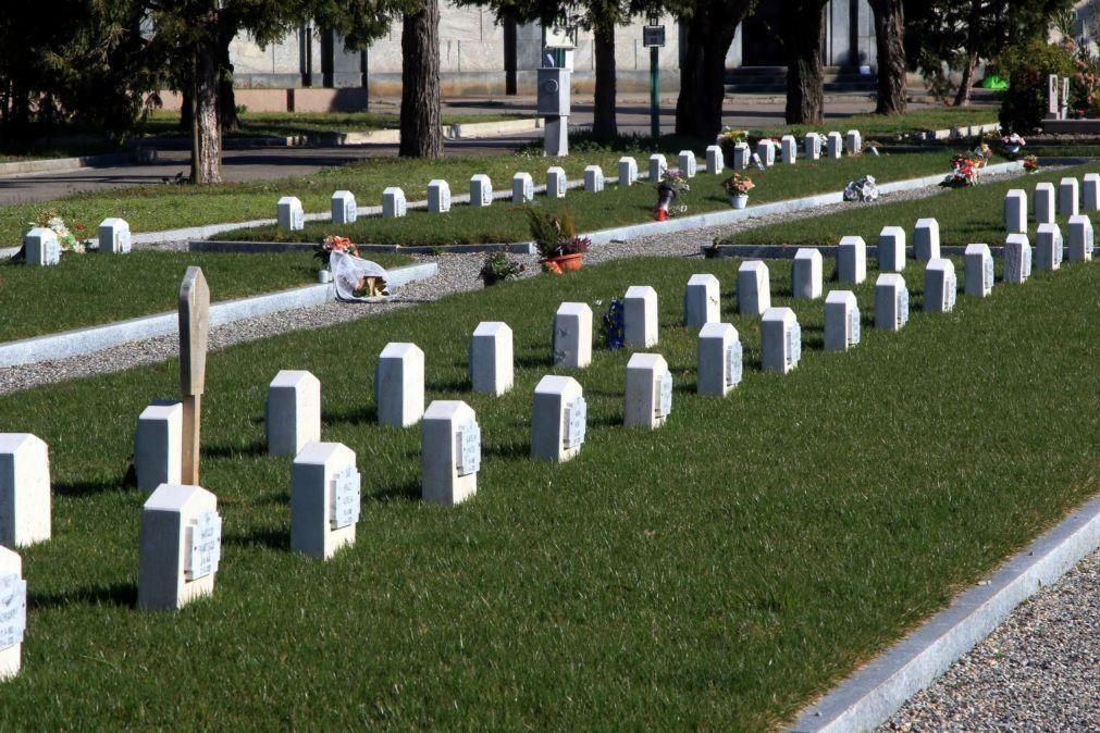 Covid-19: Itália soma quase 25 mil casos no dia em que lembrou vítimas da pandemia