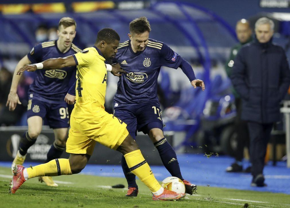 Tottenham e Mourinho humilhados na Croácia, Paulo Fonseca fica sozinho na Liga Europa