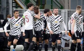 Manchester United ganha 1-0 em Milão e vai aos quartos de final da Liga Europa