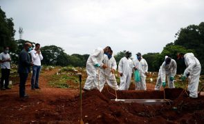 Covid-19: Mais 2.724 mortos e 86.982 infetados em 24 horas no Brasil