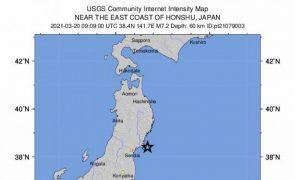 Terramoto de magnitude 7,2 faz tremer Tóquio e alerta para tsunami a nordeste