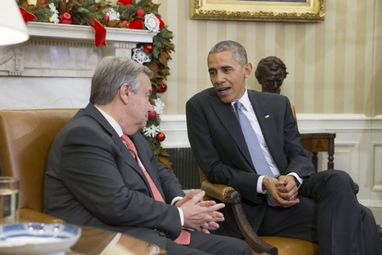 Trump e Guterres mantiveram