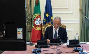 Autárquicas: Marcelo realça que compete ao Governo marcar a data e ao parlamento alterar a lei