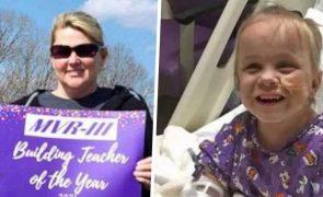 Professora doa rim e salva vida de aluna de 5 anos