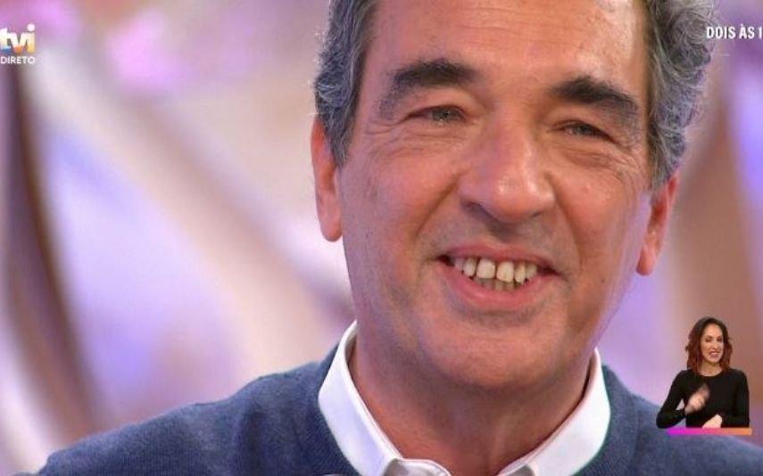 Júlio Magalhães surpreendido por Marcelo Rebelo de Sousa na TVI