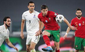 Portugal bate Azerbaijão ao intervalo com golo na própria baliza